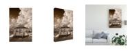 "Trademark Global Monte Nagler Gazebo Sepia Canvas Art - 15"" x 20"""
