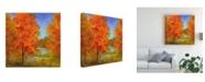 "Trademark Global Sheila Finch Burst of Autumn Color Canvas Art - 15.5"" x 21"""