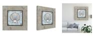"Trademark Global Pablo Esteban Shell on Blue Gray 3 Canvas Art - 15.5"" x 21"""