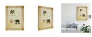 "Trademark Global Pablo Esteban Elephant Under Beige Paper 2 Canvas Art - 36.5"" x 48"""