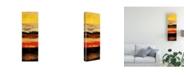 "Trademark Global Pablo Esteban Yellow Red Wave Pattern 2 Canvas Art - 36.5"" x 48"""