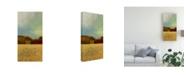 "Trademark Global Pablo Esteban Red Flat Cityscape 2 Canvas Art - 36.5"" x 48"""