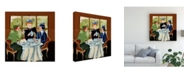 "Trademark Global Patricia A. Reed Salon De the II Canvas Art - 36.5"" x 48"""