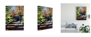 "Trademark Global Paul Walsh Fall Path Canvas Art - 36.5"" x 48"""