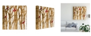 "Trademark Global Studio W Red Bird Christmas I Canvas Art - 36.5"" x 48"""