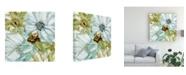 "Trademark Global Elizabeth Franklin Sea Glass Garden I Canvas Art - 19.5"" x 26"""