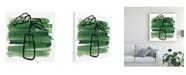 "Trademark Global June Erica Vess Tropical Sumi E III Canvas Art - 19.5"" x 26"""