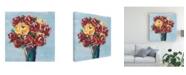 "Trademark Global Regina Moore Chaos Floral III Canvas Art - 15.5"" x 21"""