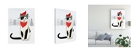 """Trademark Global Victoria Borges Christmas Cats and Dogs VI Canvas Art - 27"""" x 33.5"""""""