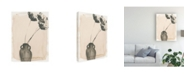 "Trademark Global Jennifer Paxton Parker Grey Garden Vase I Canvas Art - 19.5"" x 26"""