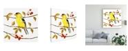 "Trademark Global Jane Maday Birds and Berries II Canvas Art - 15.5"" x 21"""