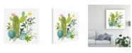 "Trademark Global Jane Maday Happy Cactus Painting I Canvas Art - 15.5"" x 21"""