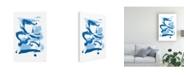 "Trademark Global Christina Long Blue Breeze I Canvas Art - 15.5"" x 21"""