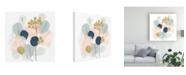 "Trademark Global June Erica Vess Floral Mazurka IV Canvas Art - 19.5"" x 26"""