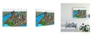 """Trademark Global Peter Potter Manhattan Abstract Canvas Art - 27"""" x 33.5"""""""