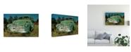 "Trademark Global Peter Potter Green Pickup Canvas Art - 19.5"" x 26"""