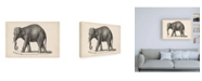 "Trademark Global Brodtmann Brodtmann Elephant Canvas Art - 15.5"" x 21"""