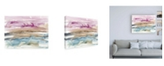 "Trademark Global Jennifer Goldberger Umber and Fuchsia Vista I Canvas Art - 27"" x 33.5"""