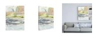"Trademark Global Jennifer Goldberger Waxen Strata I Canvas Art - 15.5"" x 21"""