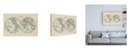 "Trademark Global Johnston Johnstons World in Hemispheres Canvas Art - 27"" x 33.5"""