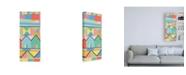"Trademark Global Nikki Galapon Flag Structure II Canvas Art - 19.5"" x 26"""