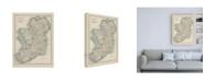 "Trademark Global Johnston Johnstons Map of Ireland Canvas Art - 27"" x 33.5"""