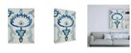 """Trademark Global Chariklia Zarris Sapphire Ikat VI Canvas Art - 27"""" x 33.5"""""""