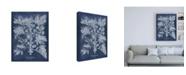 "Trademark Global Vision Studio Besler Leaves in Indigo II Canvas Art - 15.5"" x 21"""