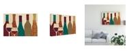 "Trademark Global Veronique Charron Wine Collage I with Glassware Canvas Art - 15"" x 20"""