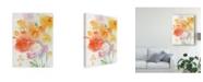 "Trademark Global Sheila Golden Invitation in Yellow Canvas Art - 20"" x 25"""