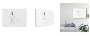 "Trademark Global Ethan Harper Figure Contour I Canvas Art - 37"" x 49"""