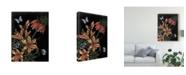 "Trademark Global Naomi Mccavitt Dark Floral II Canvas Art - 20"" x 25"""