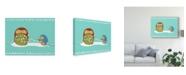 "Trademark Global June Erica Vess Happy Owlidays VII Canvas Art - 37"" x 49"""