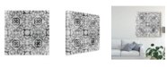 "Trademark Global June Erica Vess Boho Luxe Tile I Canvas Art - 15"" x 20"""