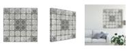 "Trademark Global June Erica Vess Boho Luxe Tile VI Canvas Art - 27"" x 33"""