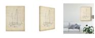 "Trademark Global Ethan Harper Sailboat Blueprint VI Canvas Art - 20"" x 25"""