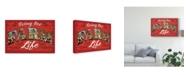 "Trademark Global Janelle Penner Farm Life V on Wood Canvas Art - 37"" x 49"""