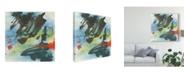 """Trademark Global Chris Paschke Graffiti Blue II Canvas Art - 15"""" x 20"""""""