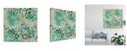 "Trademark Global Chariklia Zarris Moss Medallions I Canvas Art - 27"" x 33"""