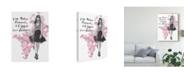 "Trademark Global Naomi Mccavitt Fashion Quote Illustrations II Canvas Art - 37"" x 49"""