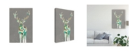 "Trademark Global Jennifer Goldberger Solitary Deer II Canvas Art - 37"" x 49"""