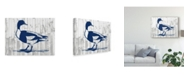 "Trademark Global Jennifer Goldberger Woodgrain Fowl III Canvas Art - 37"" x 49"""