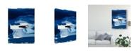 """Trademark Global Sisa Jasper Blue Amore II Canvas Art - 20"""" x 25"""""""