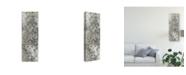 "Trademark Global June Erica Vess Weathered Damask Panel I Canvas Art - 37"" x 49"""