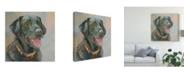 "Trademark Global Edie Fagan Harper Black Lab Canvas Art - 15"" x 20"""
