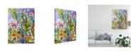 "Trademark Global Karen Fields Garden of Whimsy III Canvas Art - 37"" x 49"""