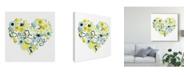 "Trademark Global June Erica Vess Heartfelt Floral I Canvas Art - 15"" x 20"""