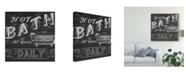 "Trademark Global June Erica Vess Chalkboard Bath Signs II Canvas Art - 27"" x 33"""