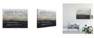 "Trademark Global Natalie Avondet Stenciled Posies VI Canvas Art - 20"" x 25"""