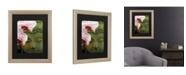 """Trademark Global Kurt Shaffer Orchids and Buddha Matted Framed Art - 37"""" x 49"""""""